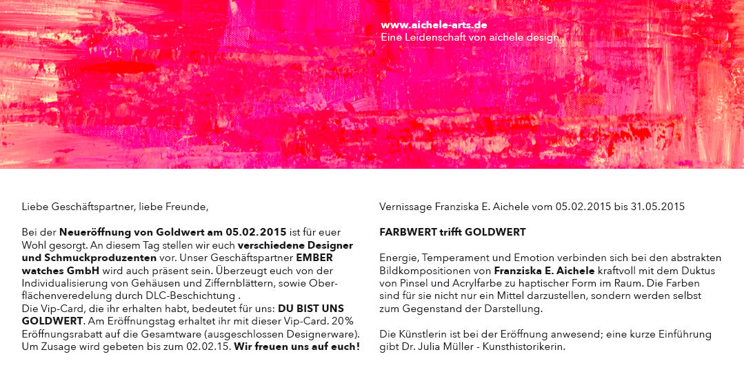 Ausstellung bei Goldwert